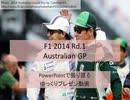 【ゆっくり】F1 2014 Rd.1 オーストラリアGP【パワポ】
