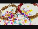【ニコニコ動画】【UVレジン】レジンブレスレットを作ってみた【蝋引き紐】@ヤマイを解析してみた