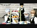 【MMD銀魂】沖田くん・銀さん・土方さんでPusse Cafe【アクセサリ配布あり】