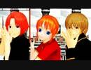 【MMD銀魂】3人で虎視眈々