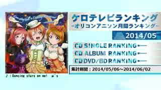 アニソンランキング 2014年5月【ケロテレビランキング】
