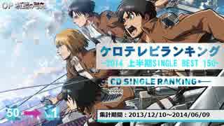 上半期アニソンランキング 2014 SINGLE BEST 150【ケロテレビ】1-50