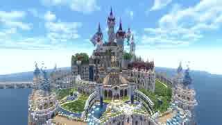 【Minecraft】四角い世界に海にきらめく魔法の城を築いてみた 【PV】