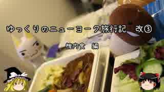 【ゆっくり】ニューヨーク旅行記 改③ 機内食編
