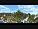 【minecraft】山岳に交易の町を作る -港区-【PV】
