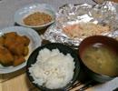 【本日の】かぼちゃの煮つけ+ホイル焼き【自分飯】
