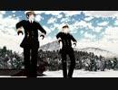 【APヘタリアMMD】しゃち式日英疑心暗鬼【雪景色スカイドーム+地面配布】
