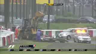 2014 F1 日本GP ビアンキ大事故で赤旗中断
