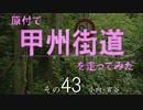 【ニコニコ動画】原付で甲州街道を走ってみた(その43)小向-宮谷を解析してみた