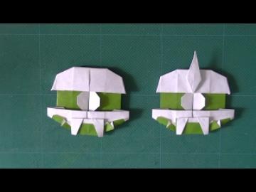 簡単 折り紙 折り紙 顔 : nicovideo.jp