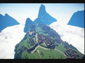 Minecraft マチュピチュ作ってみた