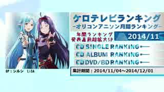アニソンランキング 2014年11月【ケロテレビランキング】