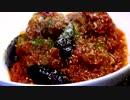 【ニコニコ動画】【チーズ料理祭】チーズ入り肉団子のトマトソース煮込み♪ を解析してみた