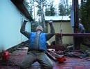 木こり職人の技はすごかった