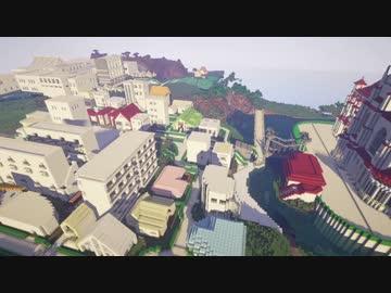 Minecraft 豆腐で豆腐の街を作ってみた