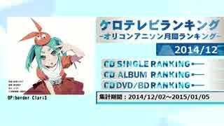 アニソンランキング 2014年12月【ケロテレビランキング】