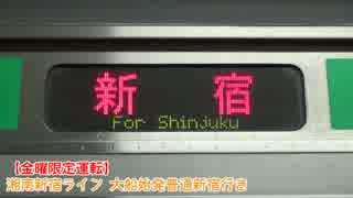 【金曜日限定運転】湘南新宿ライン 大船始発新宿行き【レア行き先】