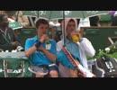 【全仏オープン2014】ジョコビッチがボールボーイと相合傘