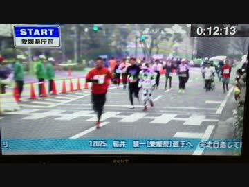 愛媛マラソンにザク登場でノリノリ実況のアナウンサーwwwww