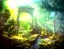 【足音と環境音】神秘の森と古代遺跡をひたすら歩くだけ【音フェチ】