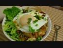 【ニコニコ動画】【たまにはカロリー取らなきゃ】ひき肉納豆キムチ豆腐丼目玉焼き乗せを解析してみた