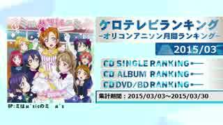 アニソンランキング 2015年3月【ケロテレビランキング】