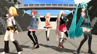 【MMD】 ミク、リン、テト、ONE、IAでCaryy me Off
