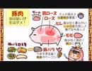【ニコニコ動画】食育2話「豚肉の部位と特徴」を解析してみた