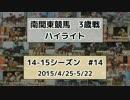 【ニコニコ動画】南関東競馬3歳戦ハイライト【14-15シーズン#14】を解析してみた