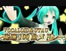 【ニコニコ動画】【俺選8】 ボーカロイド&UTAU 100曲メドレー 【作業用BGM】を解析してみた