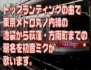 初音ミクがトップランディングの曲で東京メトロ丸ノ内線の駅名を歌った
