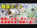 """韓国ネット 韓国には申し訳ないが・・と国連関係者、日本との""""階級""""の"""
