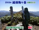 【ニコニコ動画】越後駒ヶ岳(水無川)を解析してみた
