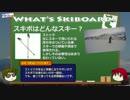 【ニコニコ動画】スキーボード解説動画 その1 「スキーボードって何?」を解析してみた