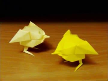 簡単 折り紙 折り紙 ひよこ : nicovideo.jp