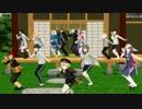 【ニコニコ動画】【MMD刀剣乱舞】第一回本丸ダンス大会!!【MMD紙芝居】を解析してみた