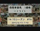 【ニコニコ動画】南関東競馬3歳戦ハイライト【14-15シーズン#16】を解析してみた