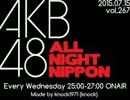 【ニコニコ動画】AKB48のオールナイトニッポン 2015.07.15を解析してみた