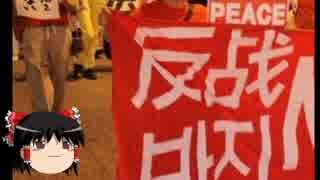 【ゆっくり政経】大阪、反安保デモでハングルの垂れ幕
