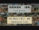 【ニコニコ動画】南関東競馬2歳戦ハイライト【15-16シーズン#3】を解析してみた
