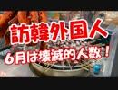 【訪韓外国人】 6月は壊滅的人数!