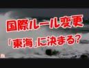 【国際ルール変更】 「東海」に決まる?