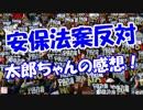 【安保法案反対】 太郎ちゃんの感想!