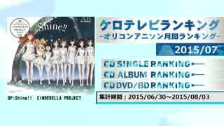 アニソンランキング 2015年7月【ケロテレビランキング】