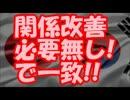 【速報】 日韓両国、関係改善必要無し!で一致!!