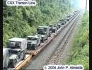 軍事貨物列車が10分間通過するだけの動画