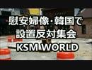 韓国・昌原市で地元商店主らが「慰安婦像」設置反対集会