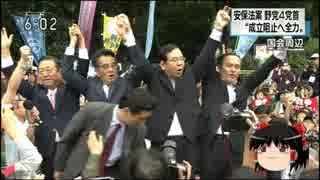 【ゆっくり保守】国会前デモ、オワコンがガン首揃えてバンザイ