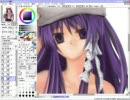 SAIで藤林杏を描いてみた(ラフを描いたらすぐ色塗り)[zip再UP^^;] thumbnail