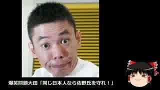 【ゆっくり保守】爆笑問題大田「同じ日本人なら佐野氏を守れ!」